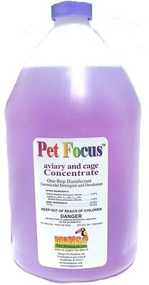 Pet Cage Cleaner - Pet Focus Aviary and Cage Cleaner - 1 Gallon (concentrate)