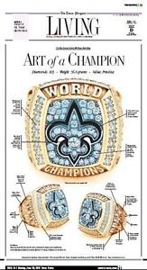 Details about new orleans newspaper saints times picayune photo poster
