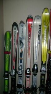 Parabolic Downhill skis with bindings for men and women