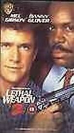 3 VHS Videos - Lethal Weapon 1, 2, 4
