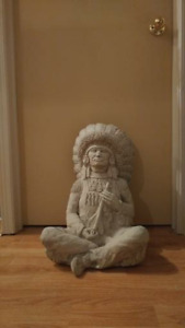 Solid Cement Indian Chief Statue