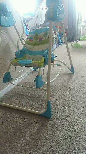 Fisher price swingin Fishponds, BristolGumtree - Good condition. Cover comes off to wash . Child has out grown it noe