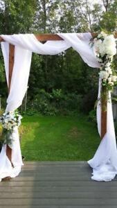 Wedding/shower arbor/arch/backdrops for rent at discount prices