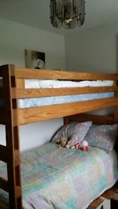 Crate Design Bunk Beds with mattresses
