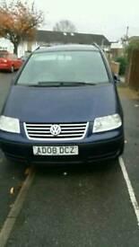 VW SHARAN blue automatic 1.9tdi