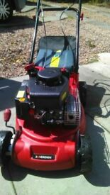 Petrol Lawnmower self-propelled as new in excellent condition used twice.