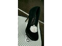 Brand new black high heel shoes Size 5
