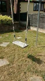 Sturdy rope and wooden swing