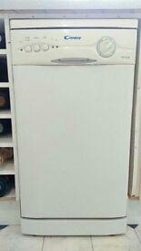 White Candy CS455M 450mm wide Slim Spacesaver Dishwasher