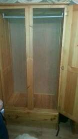 Solid honey pine wood walldrobes £ 100 ono