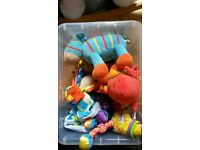 Baby toys, mama's and papa's rocking horse, baby tummy time gym.