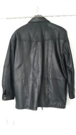 Men's Leather Coat - Large
