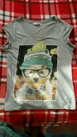 Cute puppy top size 12