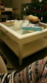 Ikea white coffee table