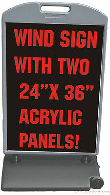 Acrylic 26x48 Sidewalk Wind Sign Ii