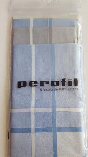 Perofil Fazzoletti Italienische Taschentücher Männer 100% Baumwolle 3 Stück