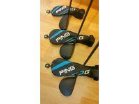2017 Ping 'G' 3, 5, Woods& No 4 Hybrid