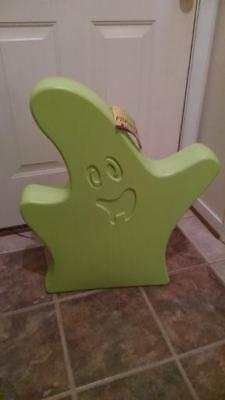 "New 28"" Ghost Lighted Blow Mold (Green) Halloween Decoration"