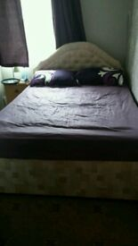 Double bed and mattress excellent condition