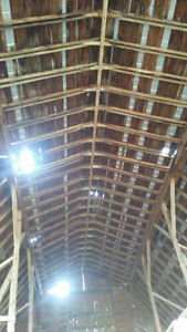 GREAT DEAL !!!  REDUCED --- 3`` X 5`` BARN ROOF RAFTERS