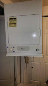Apartment size large dryer and dryer stand