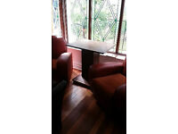 vintage retro very heavy/solid art deco / nouveau side table or small table for two