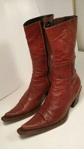 *bottes en cuir Italienne - femme taille 8 ou 39*