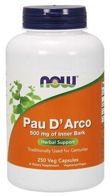 Pau D' Arco 500mg Now Foods 250 Caps 250 Caps Now Foods