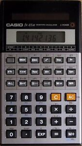 Casio calculator fx 85 - solar power, no battery needed
