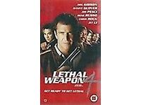 3 VHS Videos - Lethal Weapon 1, 2, 4 - Mel Gibson, Danny Glover