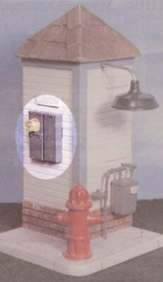 Dollhouse Miniature Electric Meter with Main Fuse Box -- 1:12 Scale