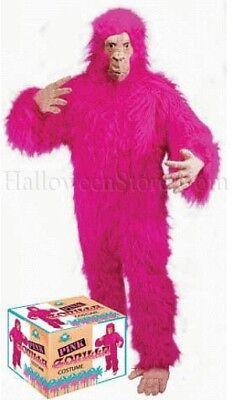 Pink Gorilla Deluxe Ape Monkey Adult (Adult Deluxe Gorilla Kostüme)
