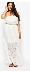 Plus, Summer,Formal, Alice & You , Maxi White Lace Dress, 26W
