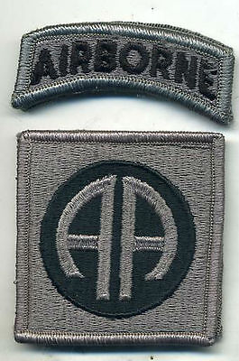 US Army 82nd Airborne ACU Patch W/Tab W/Hook Back