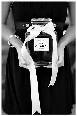 VINTAGE B&W CHANEL NO.5 ADVERTISEMENT PHOTOGRAPH POSTER A3 RE PRINT