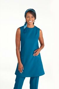 Simon jersey sleeveless beauticians tunic fd1690 fd1830 for Spa uniform blue