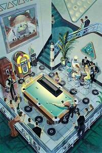 """Pool players-limited edition print-""""8 Ball In The Corner"""""""