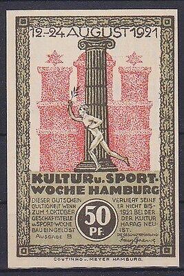 Notgeld Hamburg 50 Pfennig 1921