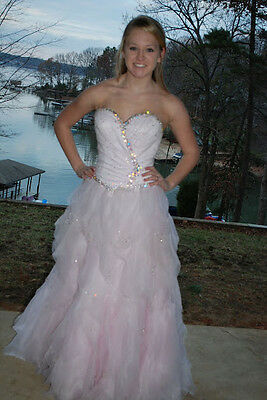 Gorgeous baby pink  Crown Collection ball gown Pageant Prom gown size 4