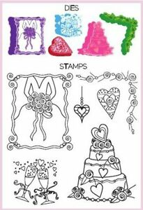 Hampton Art Spellbinders Shapeabilities 5 stamps & 5 dies  - $35