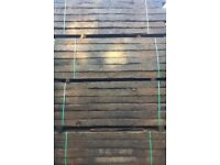 RECLAIMED RAILWAY SLEEPERS CREOSOTE TREATED GRADE A 2.6m x 250 x 150mm