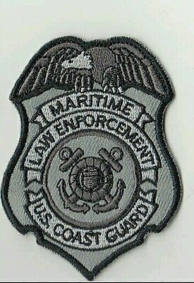 USCG badge patch Coast Guard DHS black grey velcro DSF DOG MSRT TACLET
