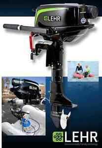 NEW - 5HP LEHR PROPANE OUTBOARD MOTOR.