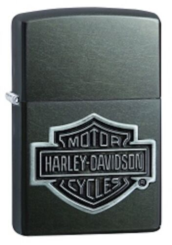 Zippo Harley Davidson Grey Lighter With Harley Shield Emblem, 29822, New In Box