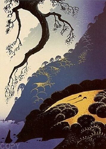 "Eyvind Earle     ""big Sur Coastline""    Make  Offer    Dss"
