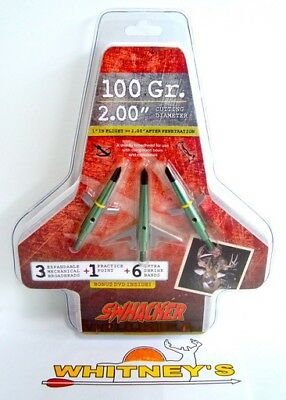 "Swhacker 2 Blade Expandable Broadhead 100 Grain -  2."" Cut - 0207"