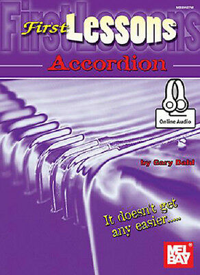 BEGINNER ACCORDION FIRST LESSONS NEW BOOK
