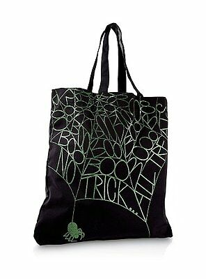 NEW Bath & and Body Works BLACK Halloween trick or treat TOTE BAG handbag purse