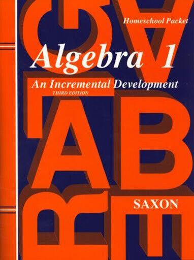 Algebra 1 HomeSchool Packet by John Saxon