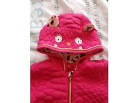 Girls pink all in one snowsuit size- 1 month